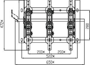разъединитель РВ-10/1000 схема вид сверху