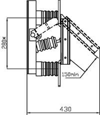 разъединитель РВ-10/630 схема вид сбоку