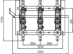 разъединитель РВ-10/630 схема вид сверху